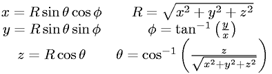 Cartesian to Spherical Coordinates (3-D)